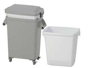 水切り厨房ペール[キャスター付] CW-70 グレー 【 ポリペール バケツ ゴミ箱 大型ごみ箱 キッチン 】