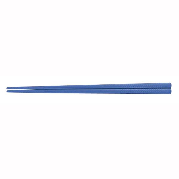 PETすべり止め付彫刻入箸[100膳入] PT-215 ブルー 【 業務用 【 箸 給食 飲食店向け 】
