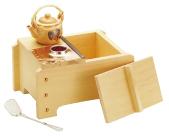 桧角型湯ドーフセット[炭用] UH-1021 1人用 【 業務用 【 湯豆腐鍋 】