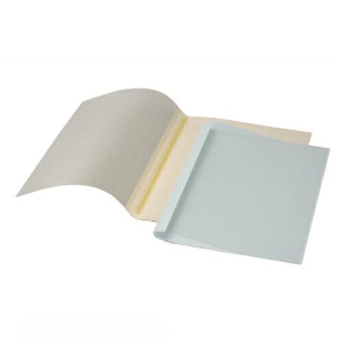 【まとめ買い10個セット品】 GBCサーマバインド 糊付け製本機 表紙カバー10枚入(表紙:透明クリアシート、裏表紙:紙) TCB09A4R ブルー