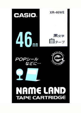 【まとめ買い10個セット品】 ネームランド用テープカートリッジ  スタンダードテープ 8m/6m XR-46WE 白 黒文字