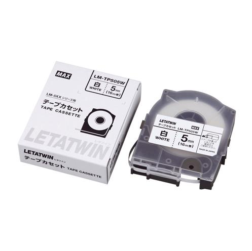 【まとめ買い10個セット品】 チューブマーカー・レタツイン専用消耗品 テープカセット テープカセット 16m LM-TP505W 白テープ