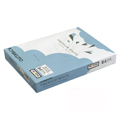 【まとめ買い10個セット品】プレミアムコピー用紙 プレミアムホワイト PPCKB4 500枚×5冊 キョクトウ・アソシエイツ【 PC関連用品 OA用紙 コピー用紙 】