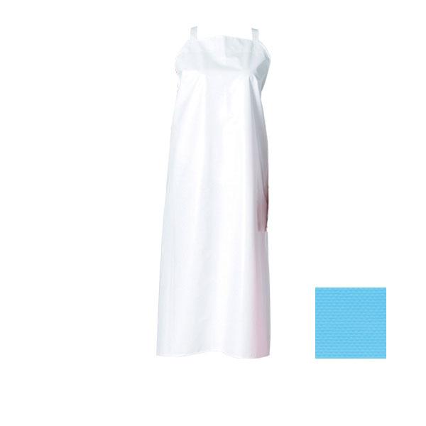 【まとめ買い10個セット品】 マイティクロスエプロン(胸当/たすき)E1001-1 L ブルー