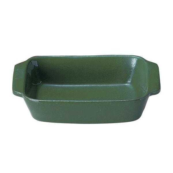 【まとめ買い10個セット品】 VL-015GR 角型オーブン 19cm 緑 ヴァルカーニャ オーブンウェア