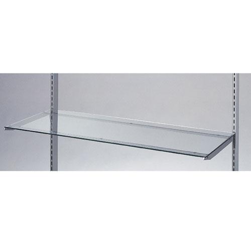 【まとめ買い10個セット品】 ガラス棚セットW90cm インハングタイプ ガラス5mm厚 D20cm【店舗什器 パネル ディスプレー 棚 店舗備品】