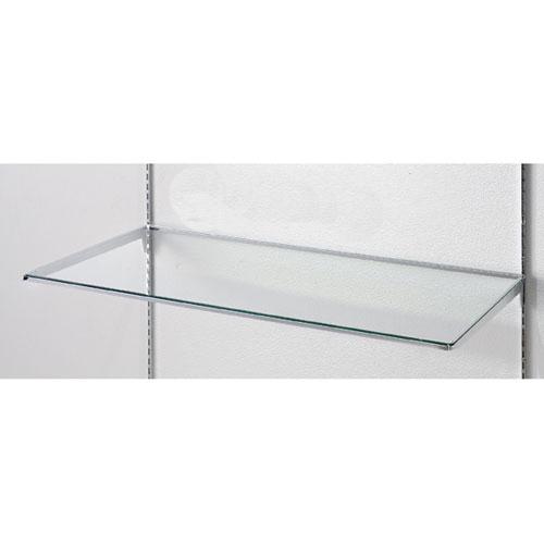 【まとめ買い10個セット品】10R ガラス棚セットW90cm インハングタイプ ガラス5mm厚 D15cm【 店舗什器 パネル ディスプレー 棚 店舗備品 】