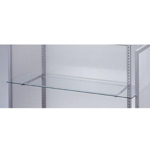 【まとめ買い10個セット品】ガラス棚セットW120cm オーバーハングタイプ ガラス5mm厚 D15cm【 店舗什器 パネル ディスプレー 棚 店舗備品 】