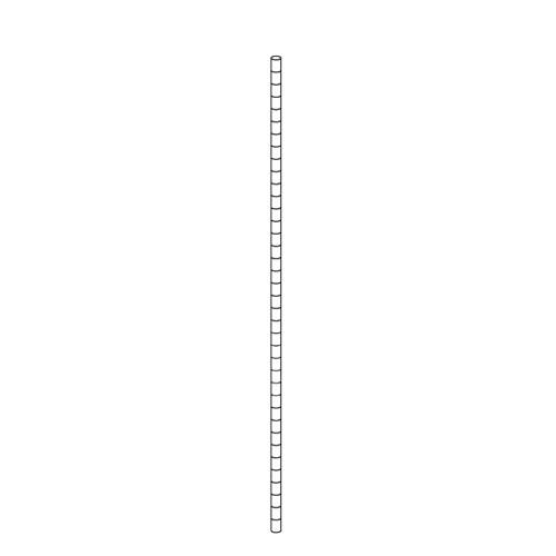 【まとめ買い10個セット品】 ワイヤーラック ポール(φ25.4mm) H210cmタイプ 2本【店舗什器 パネル ディスプレー 棚 店舗備品】