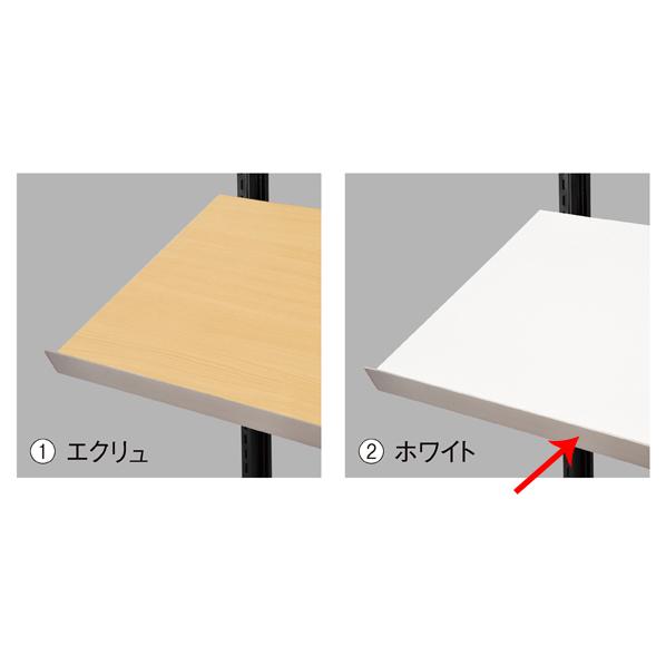 【まとめ買い10個セット品】 傾斜木棚セットW120×D40cm ホワイト SUSコボレ止+木棚+傾斜木棚ブラックT×2
