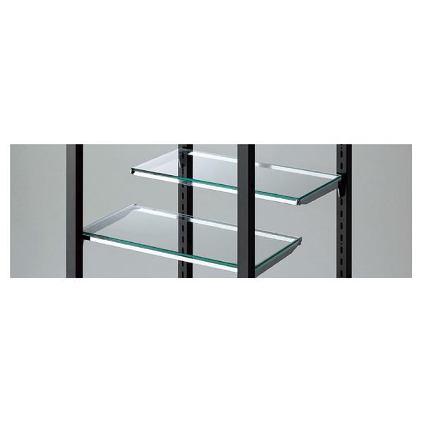 【まとめ買い10個セット品】 ガラス棚セット5mm厚W40×D20cm (芯芯38.8cm用)