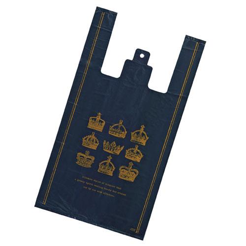 【まとめ買い10個セット品】レジ袋 クラウン 18×35(23)×横マチ10 6000枚【 店舗什器 小物 ディスプレー ギフト ラッピング 包装紙 袋 消耗品 店舗備品 】