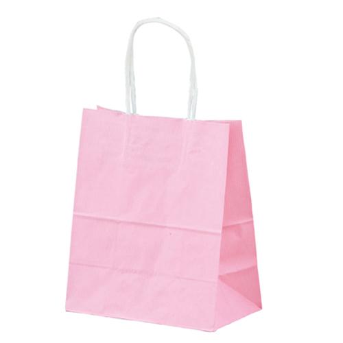 筋入りカラー 無地 ピンク 21×12×25 300枚【店舗什器 小物 ディスプレー ギフト ラッピング 包装紙 袋 消耗品 店舗備品】