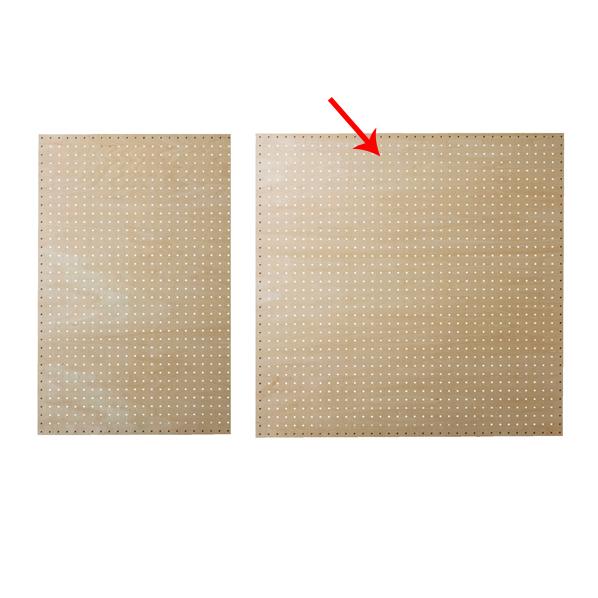 【まとめ買い10個セット品】 有孔ボードパネル 90×90cm シナクリア 1枚 角バー取付き金具セット