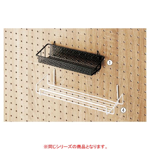 【まとめ買い10個セット品】 有孔ボード用カゴ棚 W24cm ホワイト