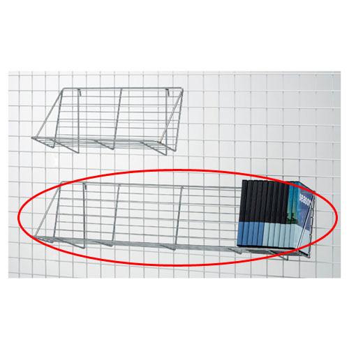 【まとめ買い10個セット品】ネット用傾斜ラック W84cm【 店舗什器 パネル ディスプレー 棚 店舗備品 】