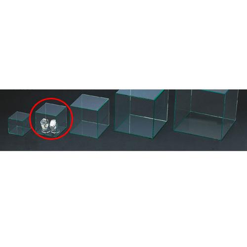【まとめ買い10個セット品】アクリル4面ボックス グリーンエッジ 14cm角【 店舗什器 小物 ディスプレー パネル ディスプレー 棚 店舗備品 】