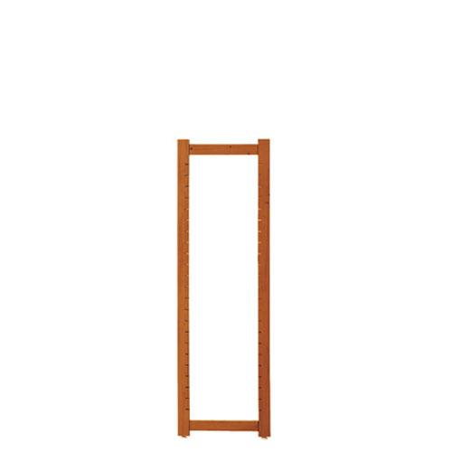 【まとめ買い10個セット品】アルテン サイドフレーム ブラウン H135cm【 店舗什器 パネル ディスプレー 棚 店舗備品 】
