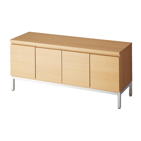 【まとめ買い10個セット品】 木製収納ボックスロー/スチール脚 エクリュ W120cm H53.5cm