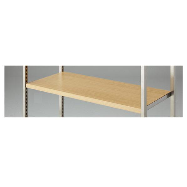 【まとめ買い10個セット品】 4点受け専用木棚セットステンレスW90cmエクリュ