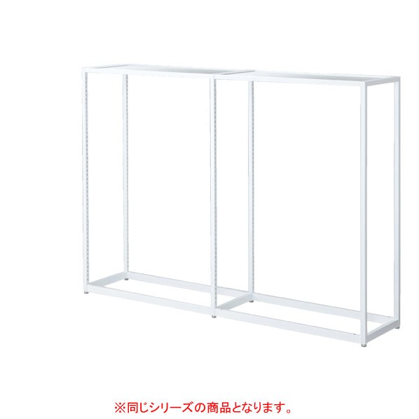 【まとめ買い10個セット品】 LR4中央片面ホワイト連結 W90×H135cmアンティークホワイト 木天板セット