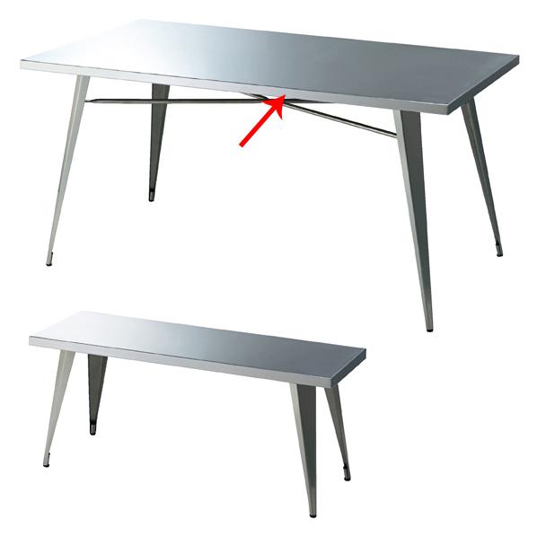 【まとめ買い10個セット品】 ネストテーブル ステンレス 大