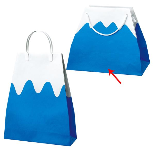 【まとめ買い10個セット品】 富士山バッグ 手提紙袋 33.5cm10枚 33.5(19.5)×27.5×横マチ16.5cm