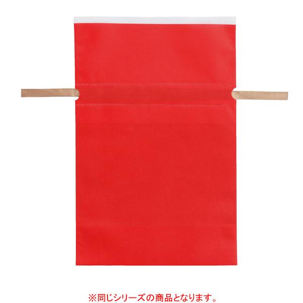 【まとめ買い10個セット品】 不織布リボン付き巾着バッグ LLレッド 10枚 45×57[45.5]×底マチ12cm
