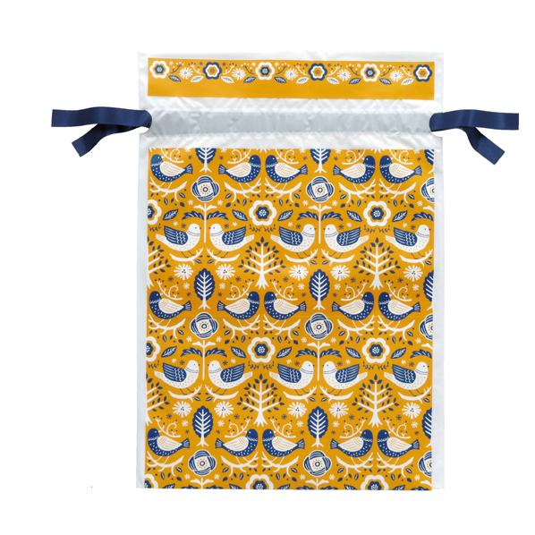 【まとめ買い10個セット品】 ノルディックスタイル ポリ巾着 24×36cm 20枚 底マチ12cm