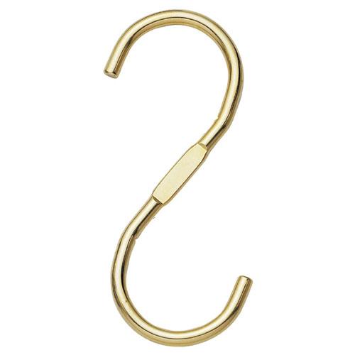 スチール製ディスプレー用フック ゴールド 5個【店舗什器 パネル ディスプレー ハンガー 棚 店舗備品】