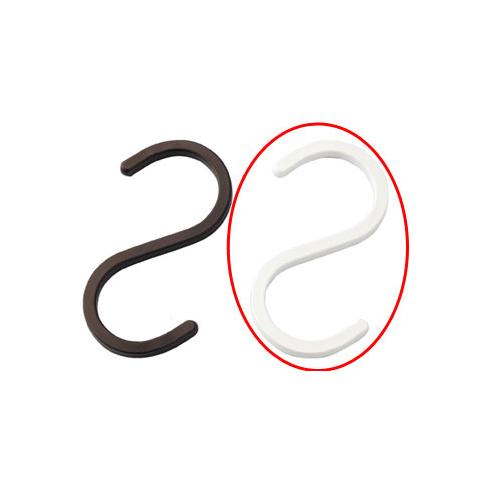【まとめ買い10個セット品】 スチール製ディスプレー用フック スクエアタイプ ホワイト 5個【店舗什器 パネル ディスプレー ハンガー 棚 店舗備品】