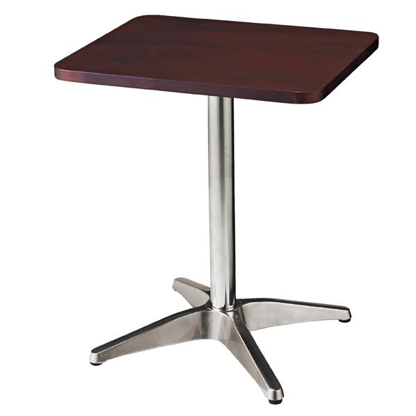カフェテーブル 角型 W50×D60cm ブラウン 1台