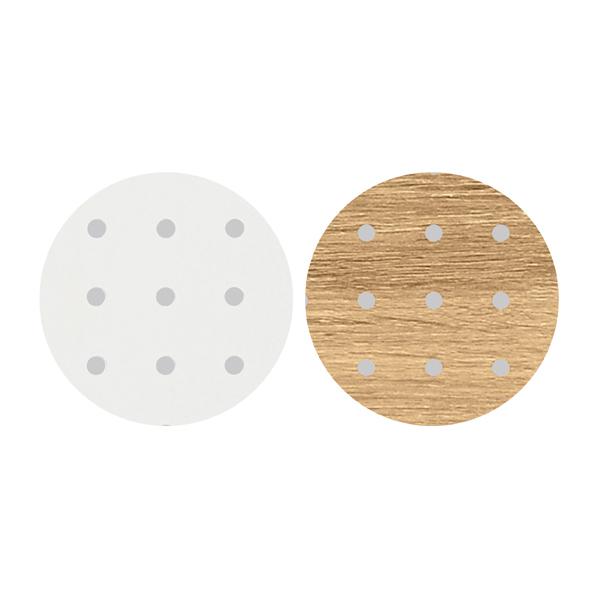 【まとめ買い10個セット品】 F-P上部Fパネルセット ブラック用 W120cm 孔ホワイト/RU (有孔ボード リバーシブル仕様)