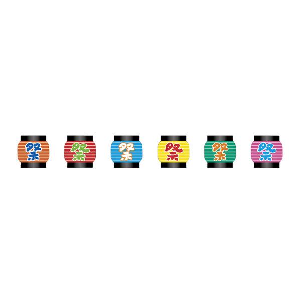 【まとめ買い10個セット品】 ユニークカットフラグ6連 祭 1本