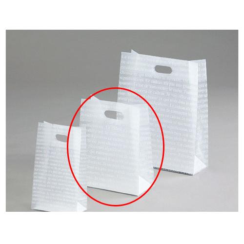 【まとめ買い10個セット品】フロストバッグ(抜き手) 22×11.5×28 30枚【 店舗備品 包装紙 ラッピング 袋 ディスプレー店舗 】