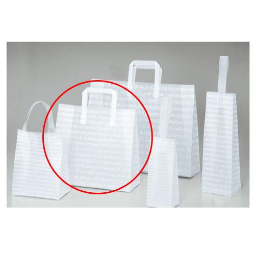 【まとめ買い10個セット品】 フロストバッグ(ハンドル付き) 32×11.5×28 20枚【店舗備品 包装紙 ラッピング 袋 ディスプレー店舗】