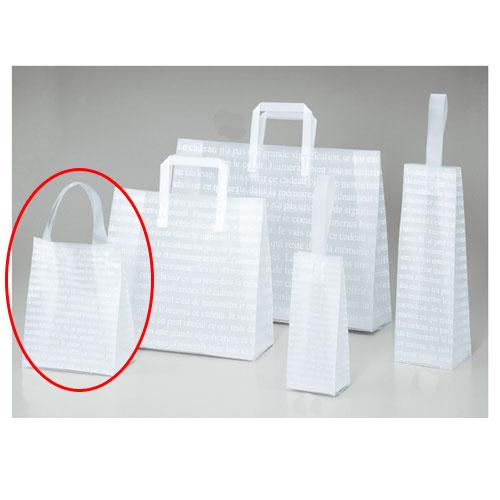 【まとめ買い10個セット品】 フロストバッグ(ハンドル付き) 18×10×23 600枚【店舗備品 包装紙 ラッピング 袋 ディスプレー店舗】