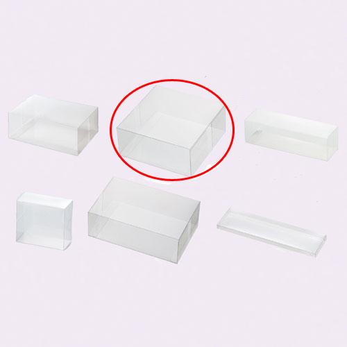 【まとめ買い10個セット品】 クリアボックス(ワンタッチ組立式) 16×16×7 10枚【店舗什器 パネル ディスプレー 小物 棚 店舗備品】