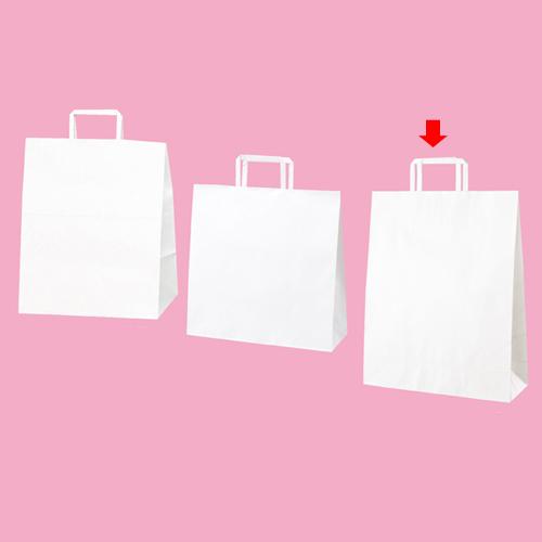 【まとめ買い10個セット品】 平ひも ローコストタイプ 白無地 32×11.5×40 300枚【店舗備品 包装紙 ラッピング 袋 ディスプレー店舗】