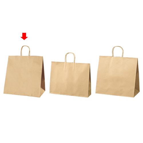 【まとめ買い10個セット品】 丸ひもタイプ 茶無地 38×25×39.5 50枚【店舗備品 包装紙 ラッピング 袋 ディスプレー店舗】