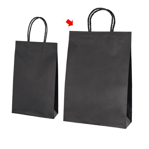スムースバッグ 黒無地 32×11.5×45 300枚【店舗備品 包装紙 ラッピング 袋 ディスプレー店舗】