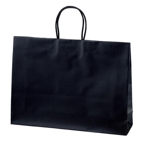 マットバッグ ブラック 43×11×32 100枚【店舗備品 包装紙 ラッピング 袋 ディスプレー店舗】