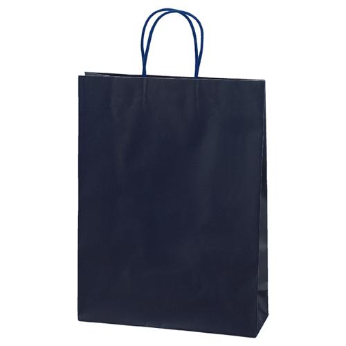 【まとめ買い10個セット品】マットバッグ ネイビー 32×11×43 100枚【 店舗備品 包装紙 ラッピング 袋 ディスプレー店舗 】