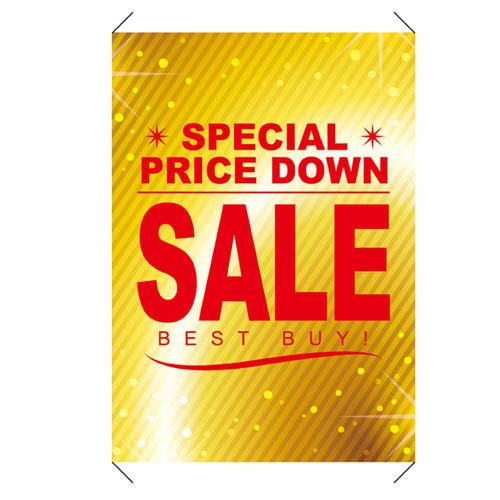 【まとめ買い10個セット品】 BARGAIN&SALE タペストリー SALE【販促用品 ポスター POP タグ 店舗備品】
