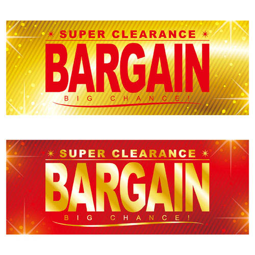 【まとめ買い10個セット品】BARGAIN&SALE ポスター パラポスター BARGAIN 10枚【 販促用品 ポスター パネル 壁面 店舗備品 】