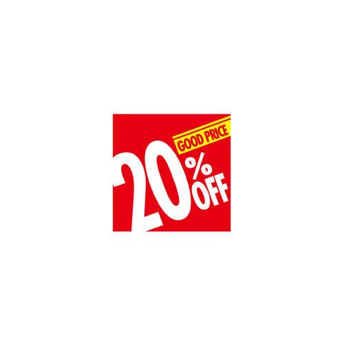 【まとめ買い10個セット品】割引テーマポスター 20%OFF 10枚【 販促用品 ポスター パネル 壁面 店舗備品 】