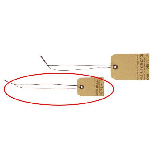 【まとめ買い10個セット品】さげ札(色糸付き) カフェオレ 小 300枚【 販促用品 ポスター POP 店舗備品 】