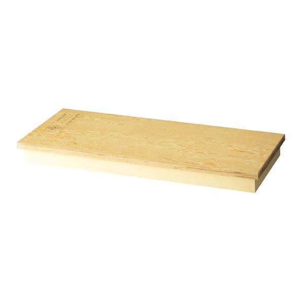 【まとめ買い10個セット品】 天板+台輪同色ステージW90cm ラーチ合板