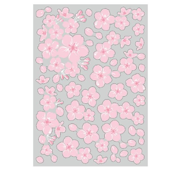 【まとめ買い10個セット品】 ウインドウシール さくら1セット 【桜 サクラ さくら 春 飾り イベント 装飾】