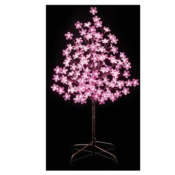 【まとめ買い10個セット品】LEDピンクフラワー立ち木ライト H120cm1台【 桜 サクラ さくら 春 飾り イルミネーション イベント 装飾 】